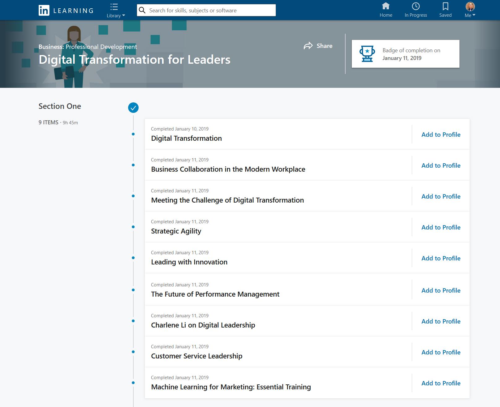 Matthew Bardeleben - Inclusive Leadership Certification - LinkedIn Learning Path